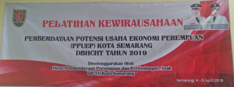 Pelatihan Kewirausahaan DP3A Kota Semarang